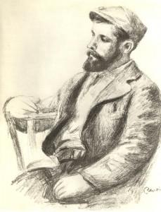 Portrait de L. Valtat par Renoir